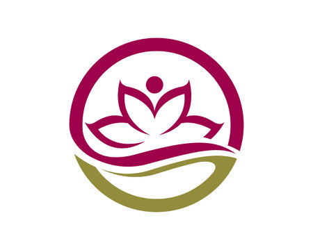 Ilustración de Beauty Vector Lotus flowers design logo Template icon - Imagen libre de derechos