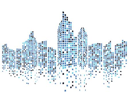 Illustration pour Modern City skyline . city silhouette. vector illustration in flat design - image libre de droit