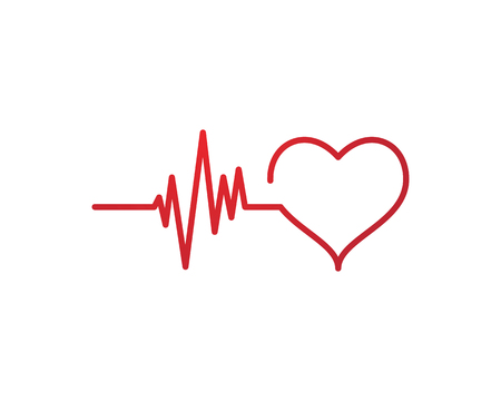 Ilustración de Art design health medical heartbeat pulse symbol icon design. - Imagen libre de derechos