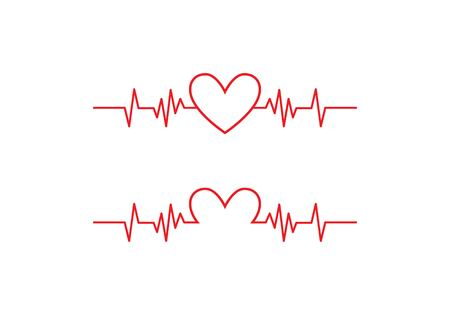 Ilustración de Art design health medical heartbeat pulse - Imagen libre de derechos