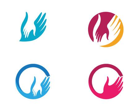 Ilustración de Hand Care icon Template vector icon Business - Imagen libre de derechos