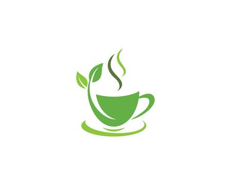 Ilustración de Cup of tea vector icon illustration design logo template - Imagen libre de derechos
