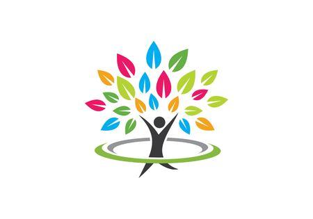 Illustration for Family tree symbol icon logo design template - Royalty Free Image