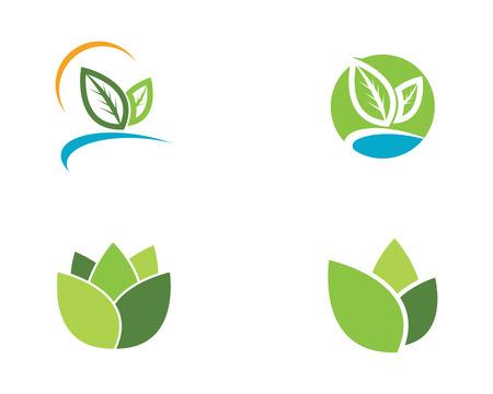 Ilustración de Logos of green Tree leaf ecology nature element vector - Imagen libre de derechos