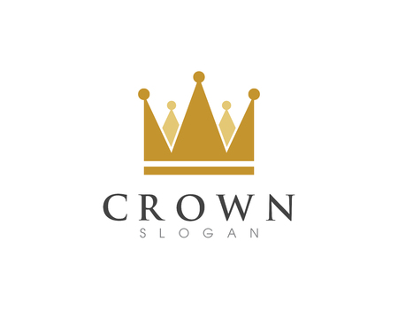 Illustration for Crown Logo Template vector icon illustration design - Royalty Free Image