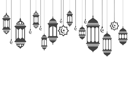 Illustrazione per Hanging lamps vector Illustration - Immagini Royalty Free