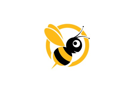Illustration for Bee Logo Template vector icon illustration design - Royalty Free Image