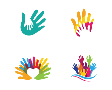 Illustration for Hand Care Logo Template vector icon Business - Royalty Free Image