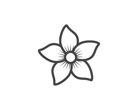 Illustration pour Jasmine flower icon vector illustration. - image libre de droit