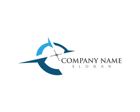 Illustration for Compass Logo Template vector icon illustration design - Royalty Free Image