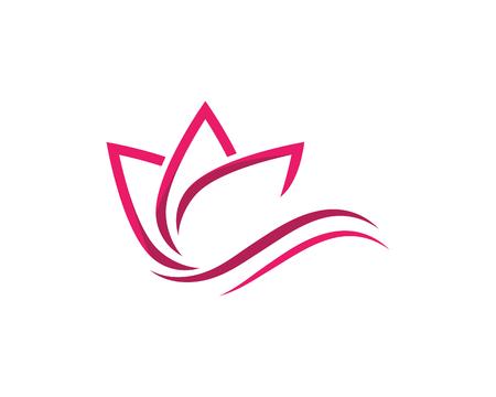 Illustration pour Beauty Vector lotus flowers design logo Template icon - image libre de droit