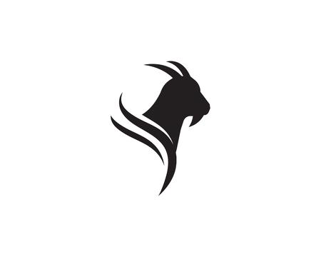 Ilustración de Goat Logo Template vector icon illustration design - Imagen libre de derechos