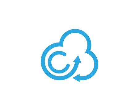 Illustration pour Cloud template vector icon illustration design - image libre de droit