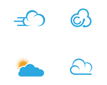 Ilustración de Cloud template vector icon illustration design - Imagen libre de derechos