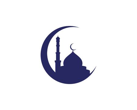 Illustration for Mosque Moslem icon vector Illustration design template - Royalty Free Image
