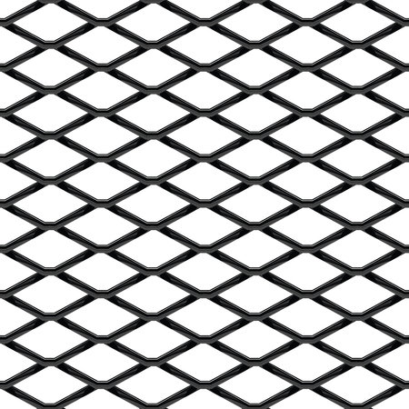 Illustration pour Black chrome Steel Grating seamless structure. Chainlink isolated on white background.  Vector illustration. EPS 10. - image libre de droit