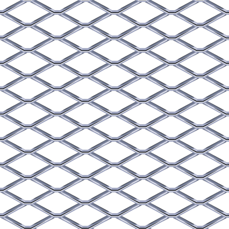 Illustration pour Steel Grating seamless structure. Chainlink isolated on white background.  Vector illustration. EPS 10. - image libre de droit