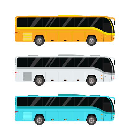 Illustration pour City public bus and vehicle transportation city bus vector. City bus vector travel passenger public and city bus vector traffic tour front commercial trip. City bus vector street ride municipal car. - image libre de droit