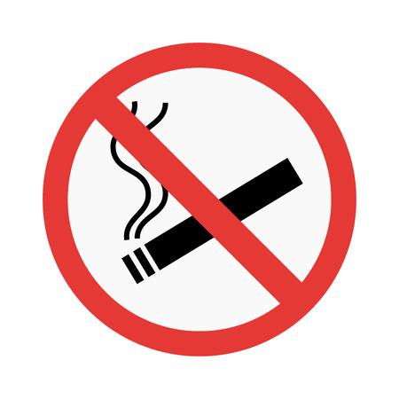 Illustration pour No smoke sign vector illustration - image libre de droit