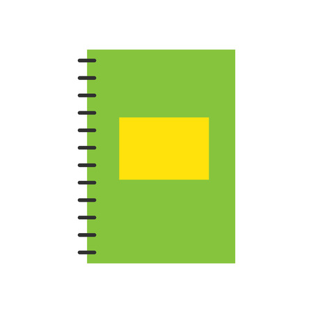 Illustration for Notepad notebook isolated on white vector. - Royalty Free Image
