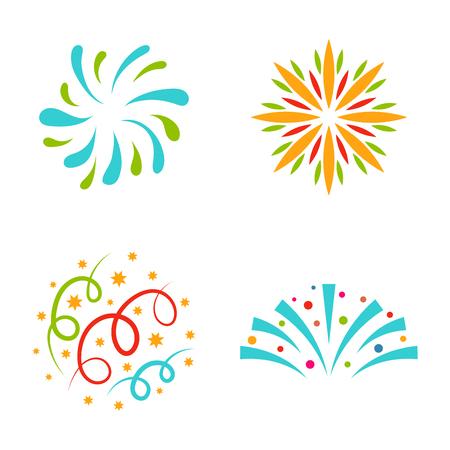 Illustration for Firework vector illustration celebration holiday event night explosion light festive party - Royalty Free Image