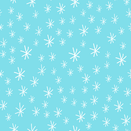 Illustration for Snowflake vector seamless pattern weather traditional winter december wrapping paper christmas background. - Royalty Free Image