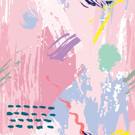 Ilustración de Universal Memphis hand drawn seamless pattern vector illustration. - Imagen libre de derechos