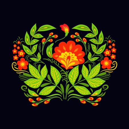 Illustration for Vector khokhloma pattern design - Royalty Free Image