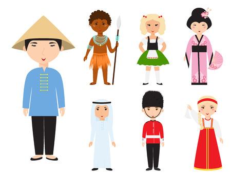 Illustration pour Diverse avatars cartoon characters vector illustration. - image libre de droit