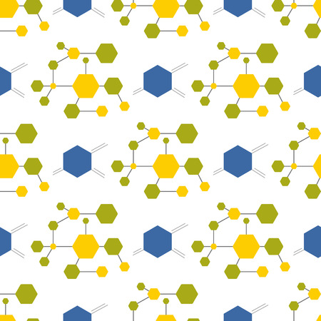 Illustration pour Connection structure molecule of DNA and neurons abstract background medicine seamless pattern science technology vector illustration for your design. - image libre de droit