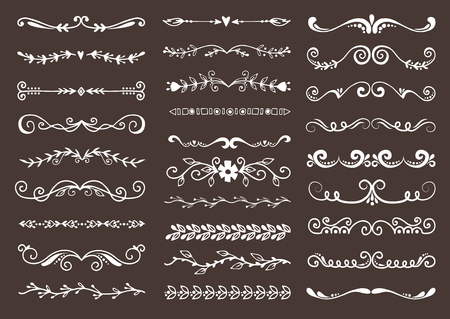 Illustrazione per Dividers elements to breaks paragraph vector set - Immagini Royalty Free