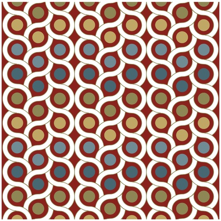 Photo pour vector background pattern with dots and circle - image libre de droit