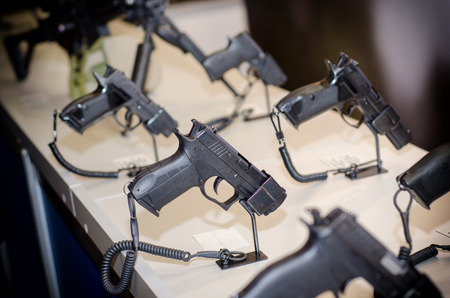 Foto de Gun Display Stands - Imagen libre de derechos