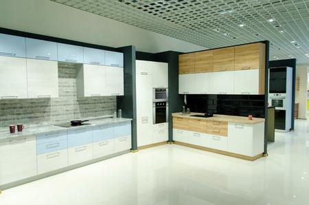 Foto de New Kitchens For Sale In The Store. - Imagen libre de derechos