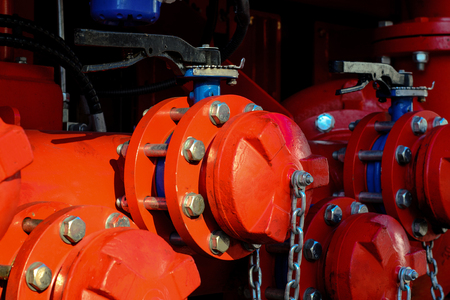 Photo pour Close-up gas pipe line - image libre de droit
