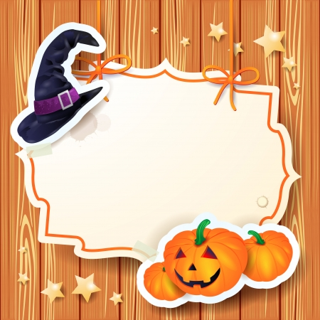 Halloween background with label, vector eps10
