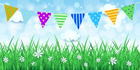 Illustration pour Spring background with festoon, vector eps10 - image libre de droit