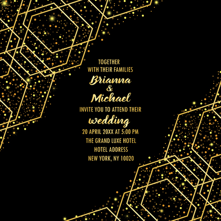 Illustration for Wedding Luxury Invitation Card - Royalty Free Image