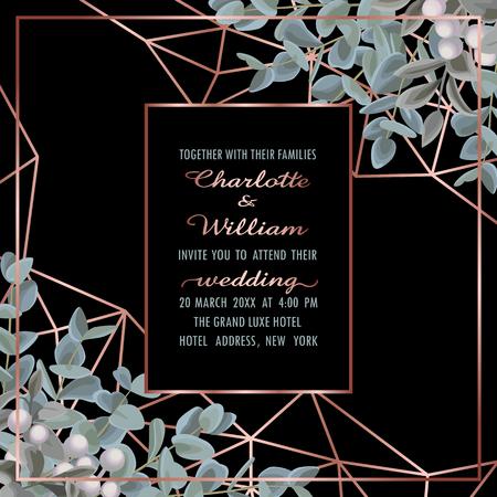 Illustration for Wedding Invitation with Eucalyptus - Royalty Free Image