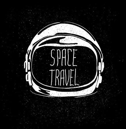 Ilustración de abstract astronaut helmet to space travel emblem isolated - Imagen libre de derechos