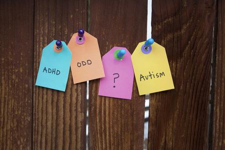 Photo pour Mental Health and Disability labels - image libre de droit