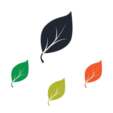 Illustration for Leaf icon - Royalty Free Image