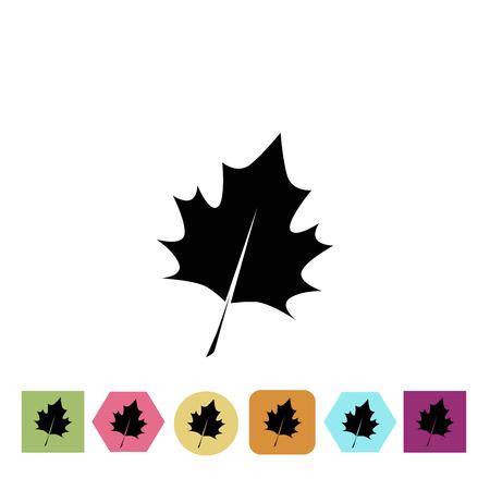 Illustration for Tree leaf icon - Royalty Free Image