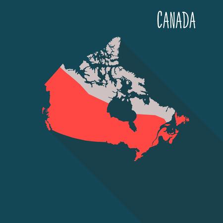 Illustration pour Canada territory color flat illustration - image libre de droit