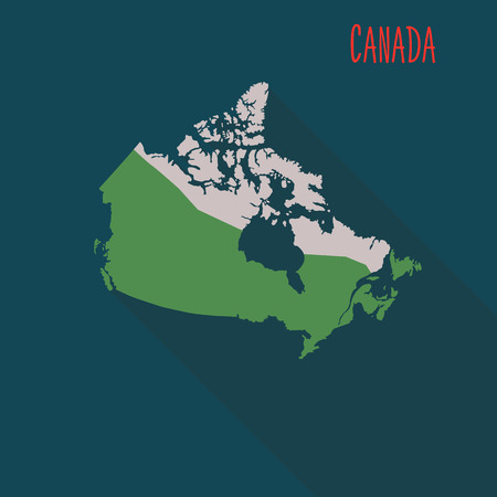 Illustration pour Canada territory color flat illustration - image libre de droit