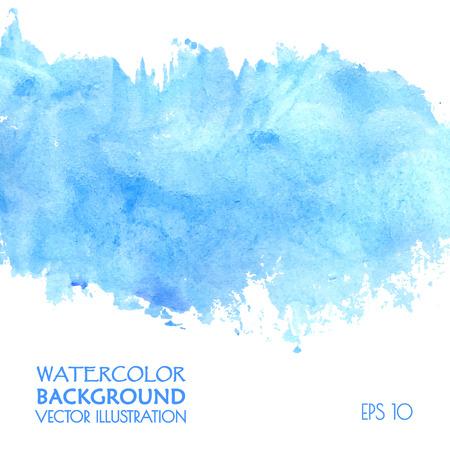 Illustration pour Light water blue watercolor banner - image libre de droit