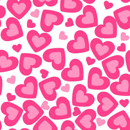 Illustration for heart background. valentine seamless texture - Royalty Free Image