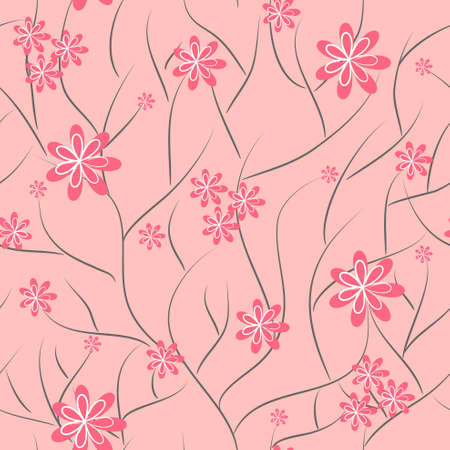 Illustration for floral background. flower seamless texture - Royalty Free Image