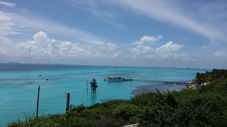 Photo pour View of the Carribean sea from Isla Mujeres, Mexico - image libre de droit