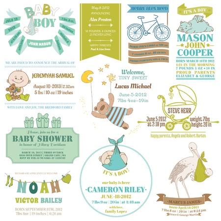 Photo for Baby Arrival and Shower Collection - for card design, scrapbook - in vector - Royalty Free Image